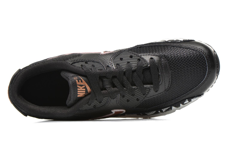 Sneaker Nike AIR MAX 90 FB (GS) schwarz ansicht von links