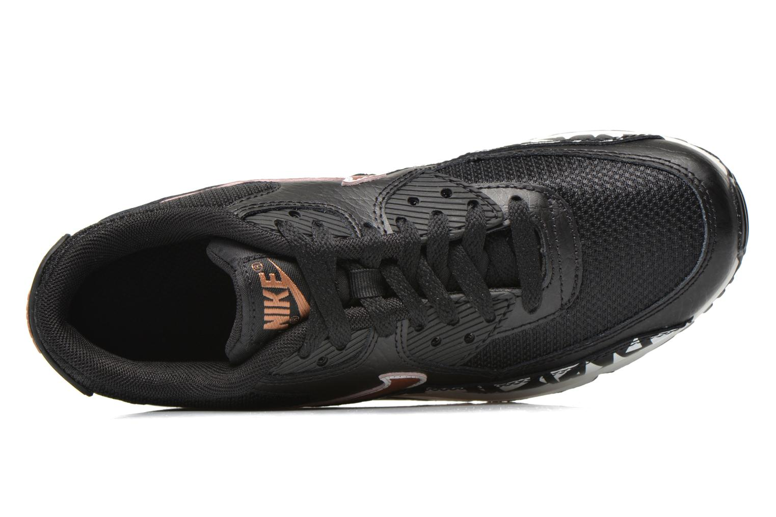 Trainers Nike AIR MAX 90 FB (GS) Black view from the left