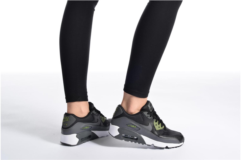 Sneaker Nike NIKE AIR MAX 90 MESH (GS) schwarz ansicht von unten / tasche getragen