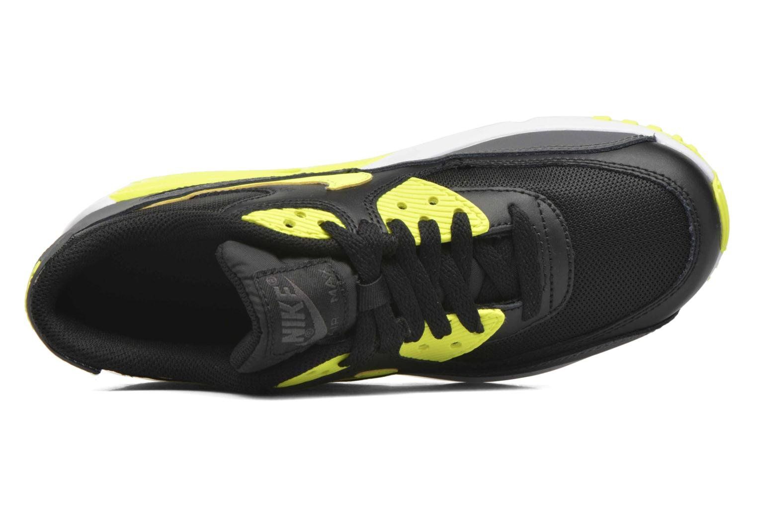 NIKE AIR MAX 90 MESH (GS) Black/volt-dark grey-white