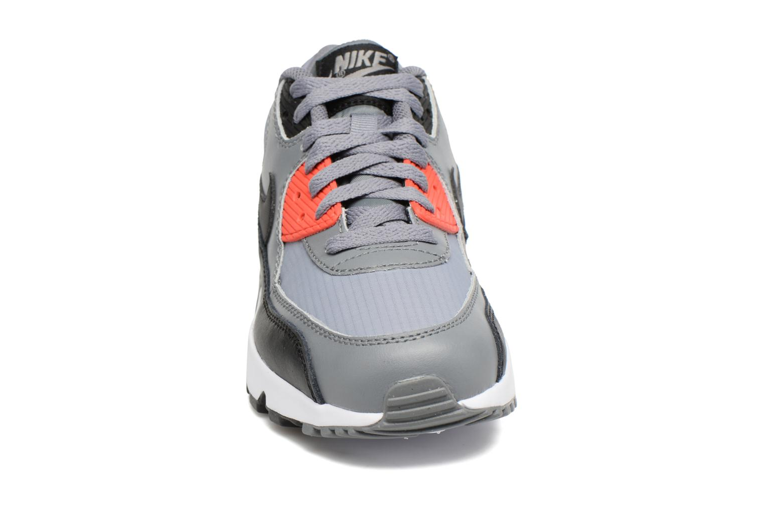 NIKE AIR MAX 90 MESH (GS) Cool Grey/Black-Max Orange-White