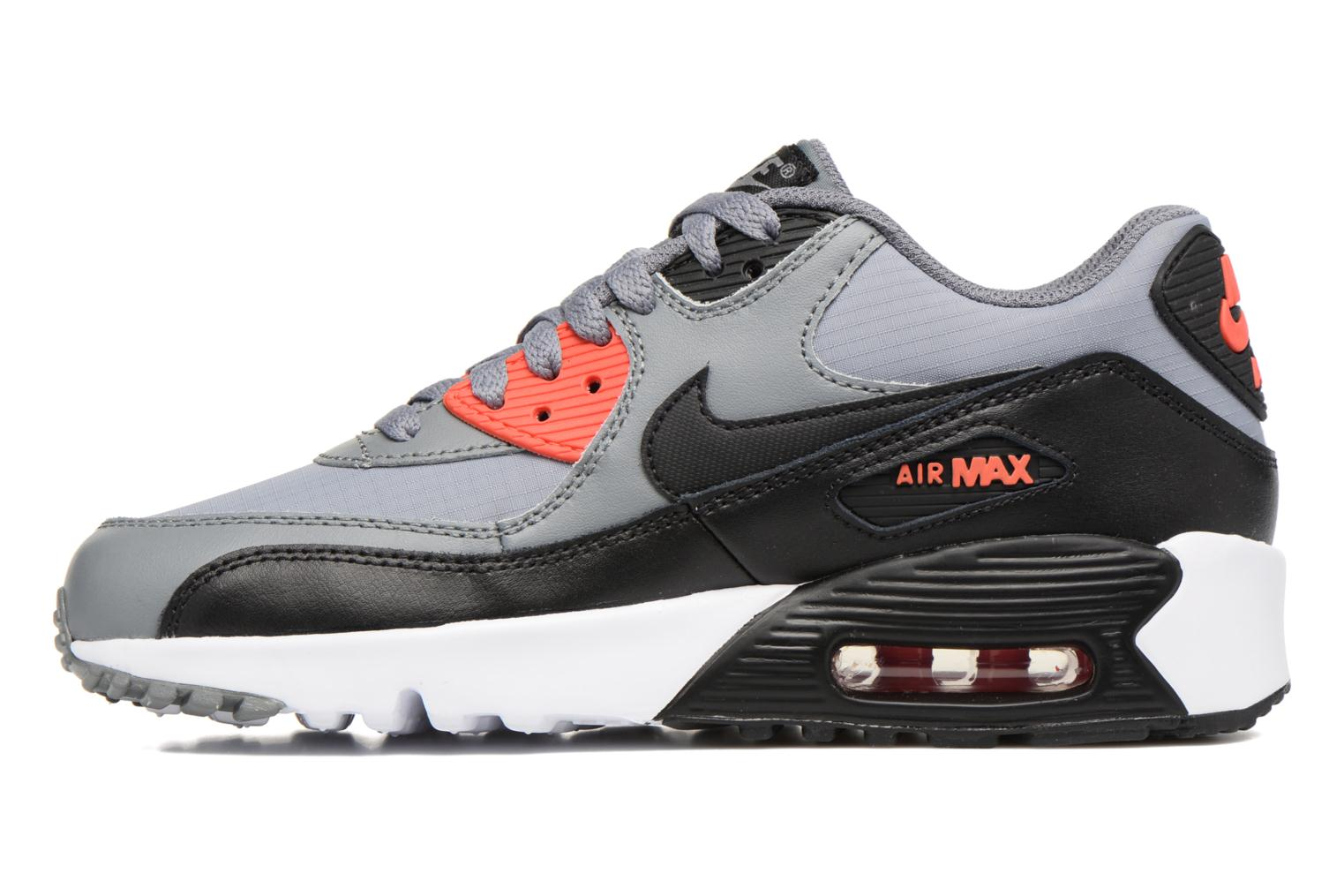 Trainers Nike NIKE AIR MAX 90 MESH (GS) Grey front view