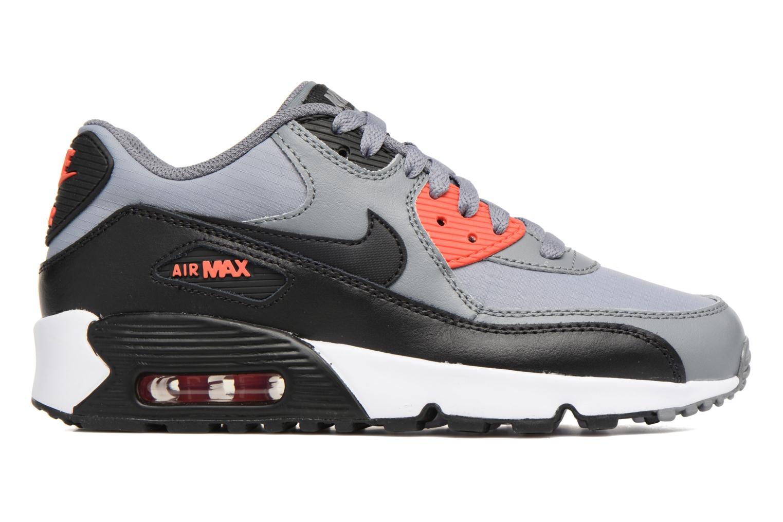 NIKE AIR MAX 90 MESH (GS) Cool Grey/Black-Max Orange-White