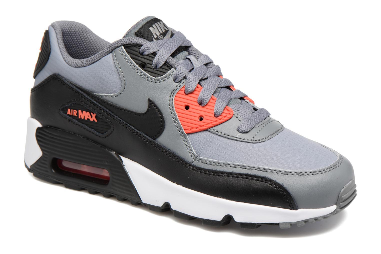 Trainers Nike NIKE AIR MAX 90 MESH (GS) Grey detailed view/ Pair view