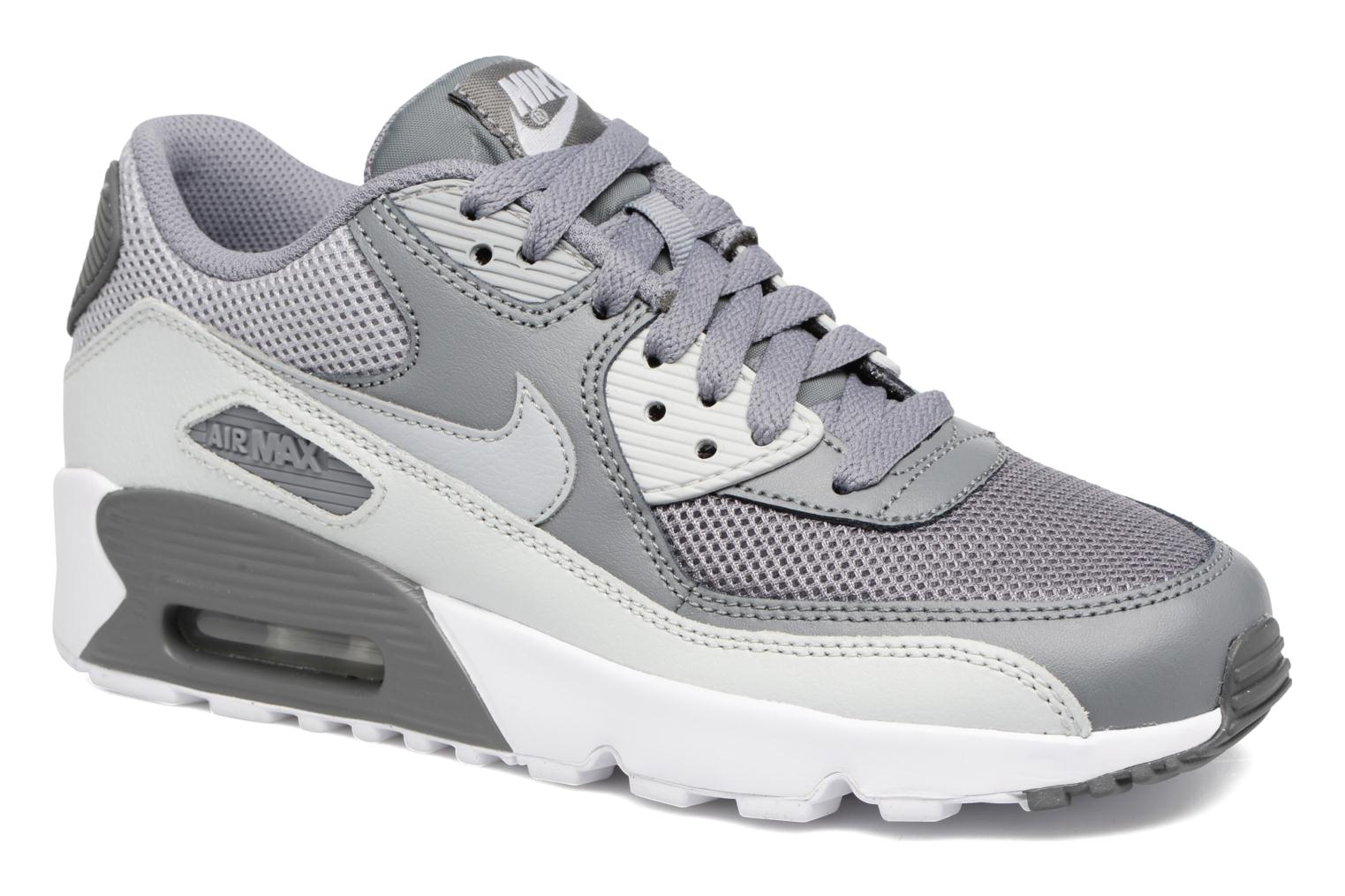 NIKE AIR MAX 90 MESH (GS) Cool Grey/Wolf Grey-Pure Platinum-White