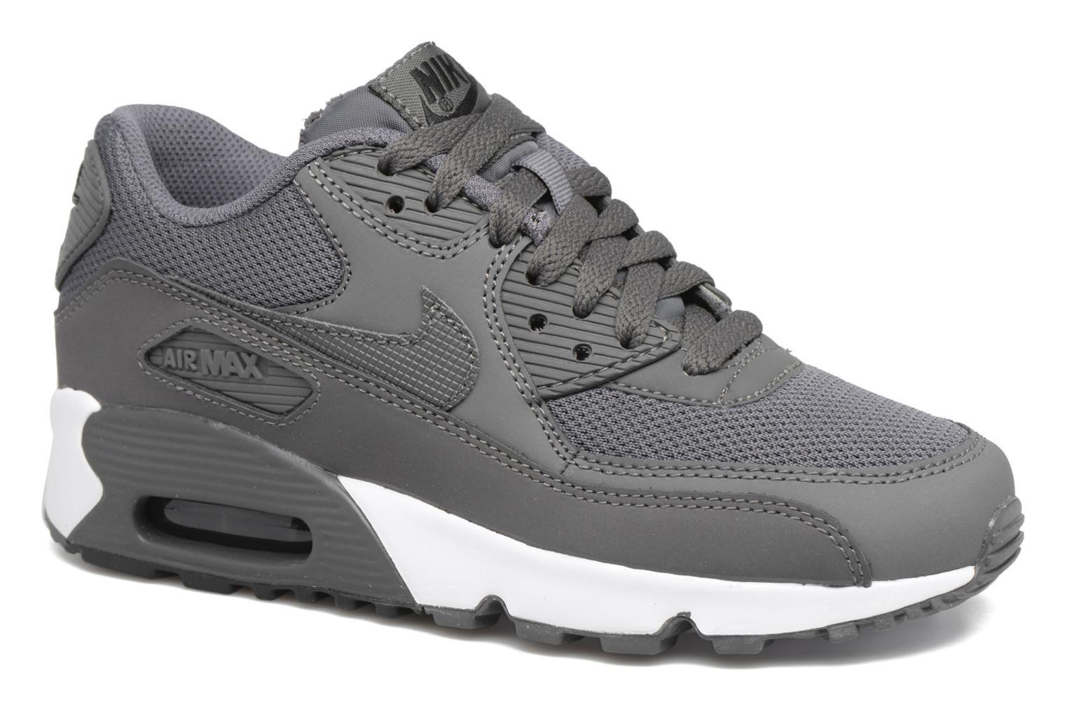 Trainers Nike NIKE AIR MAX 90 MESH (GS) Grey detailed view/ Pair view