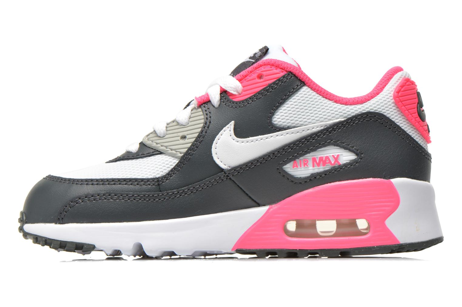 NIKE AIR MAX 90 MESH (PS) Anthracite White-Hyper Pink
