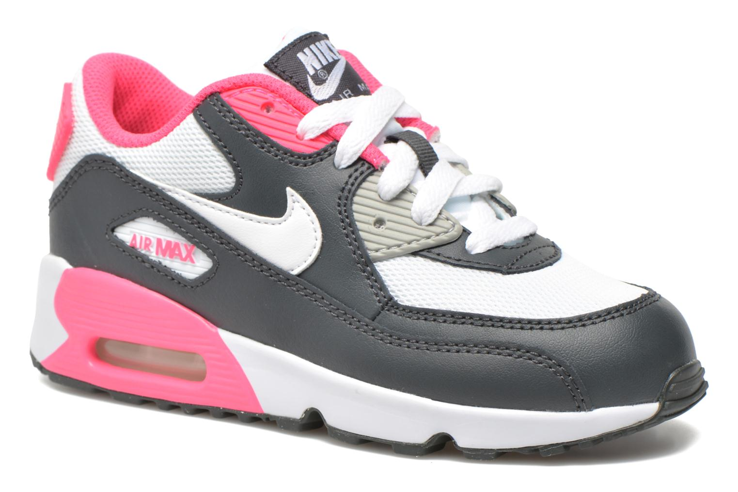 Baskets Nike NIKE AIR MAX 90 MESH (PS) Gris vue détail/paire