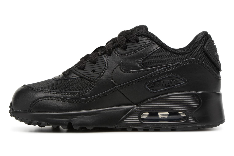 Sneakers Nike NIKE AIR MAX 90 MESH (PS) Svart bild från framsidan
