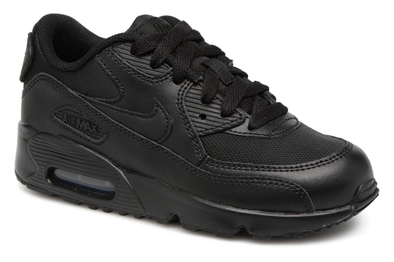 Sneakers Nike NIKE AIR MAX 90 MESH (PS) Svart detaljerad bild på paret