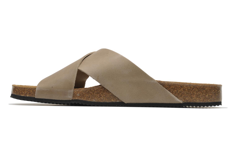 Sandalen Rondinaud Trèfle beige ansicht von vorne