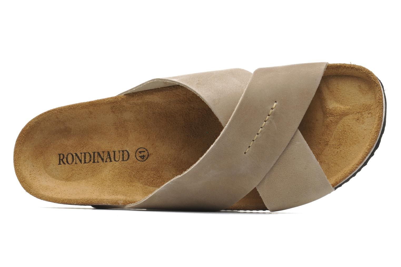 Sandalen Rondinaud Trèfle beige ansicht von links