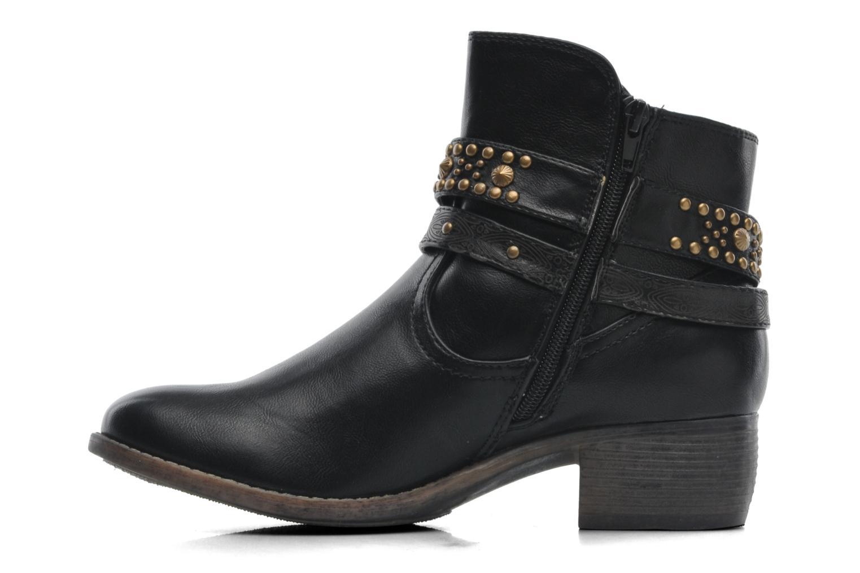 Bottines et boots Divine Factory D-rock Noir vue face