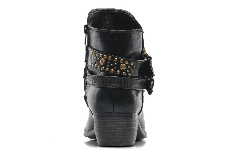 Bottines et boots Divine Factory D-rock Noir vue droite