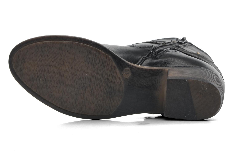 Bottines et boots Divine Factory D-rock Noir vue haut