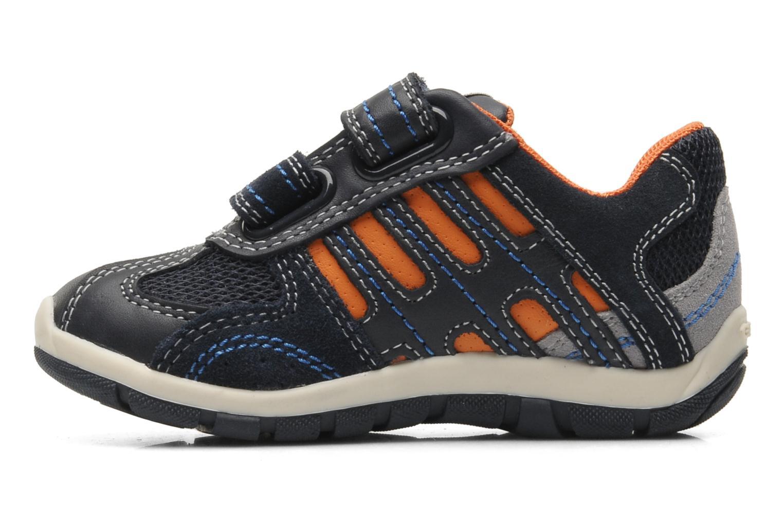 Sneaker Geox B SHAAX B. A - VIT.LISCIO+MESH blau ansicht von vorne