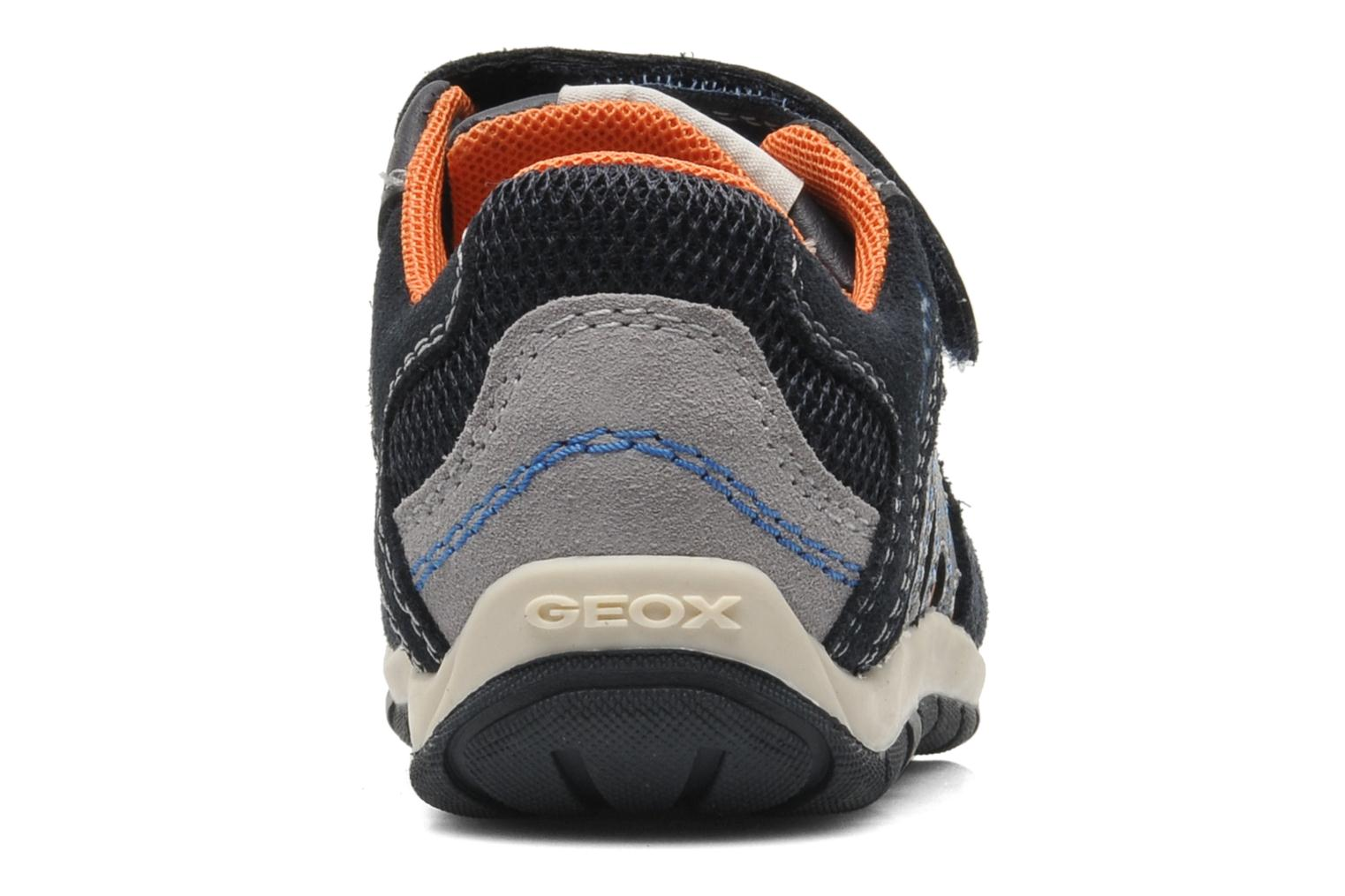 Trainers Geox B SHAAX B. A - VIT.LISCIO+MESH Blue view from the right