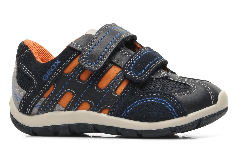 Sneaker Geox B SHAAX B. A - VIT.LISCIO+MESH blau ansicht von hinten