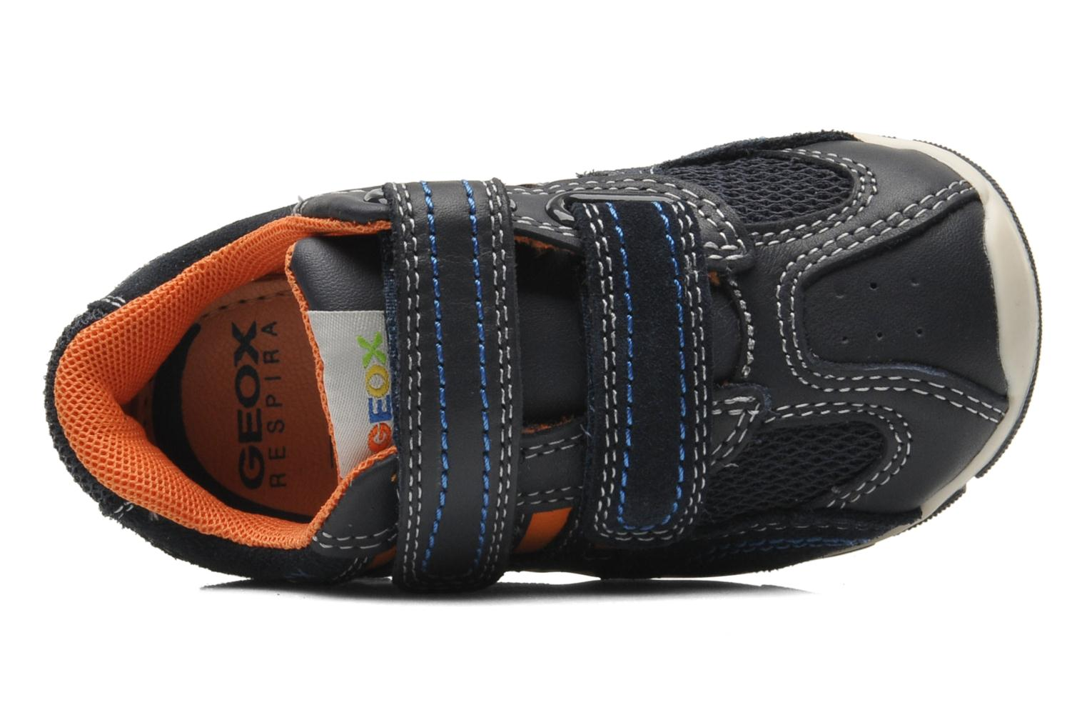 Trainers Geox B SHAAX B. A - VIT.LISCIO+MESH Blue view from the left