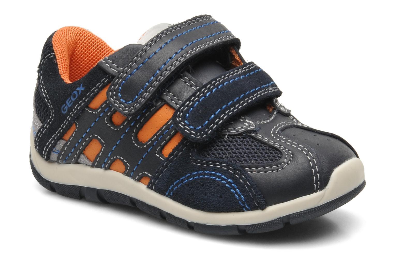 Baskets Geox B SHAAX B. A - VIT.LISCIO+MESH Bleu vue détail/paire
