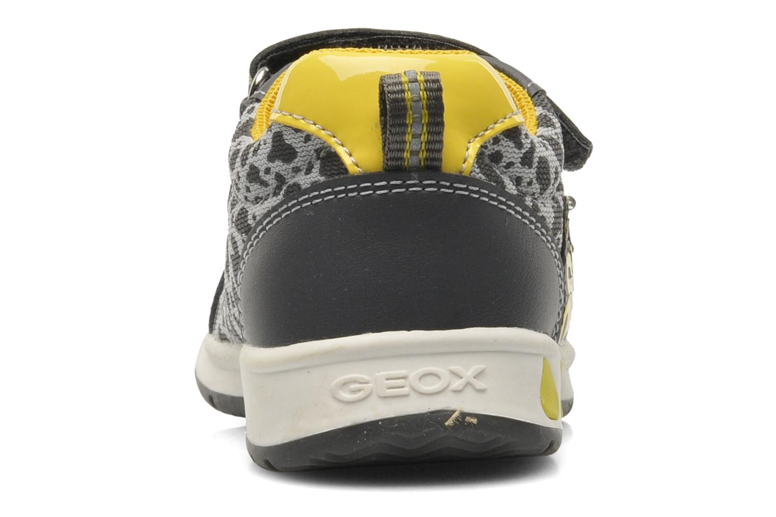 Trainers Geox B TEPPEI B. C - MESH+DBK Grey view from the right