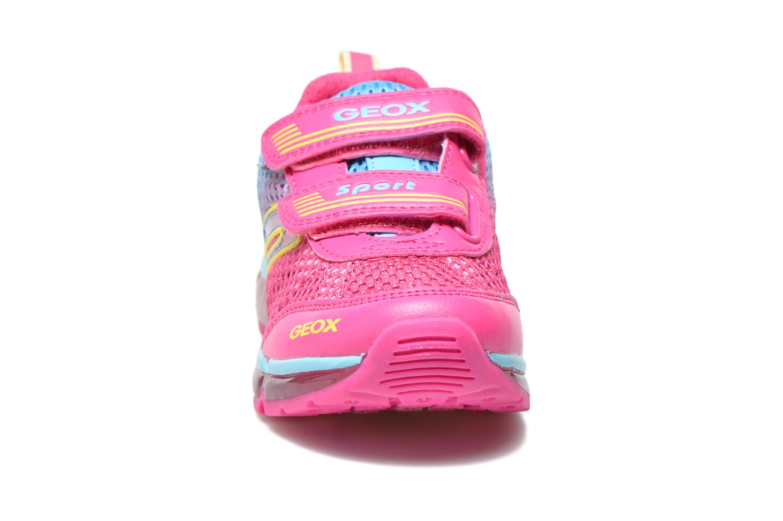 Baskets Geox J Android G. A J5245A Rose vue portées chaussures