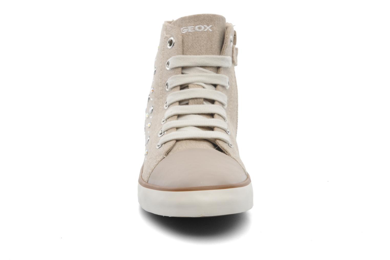 Baskets Geox J CIAK G. G - TELA Beige vue portées chaussures