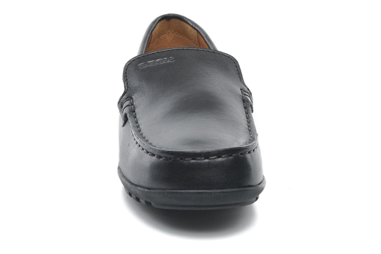 Slipper Geox J FAST A J11G5A schwarz schuhe getragen