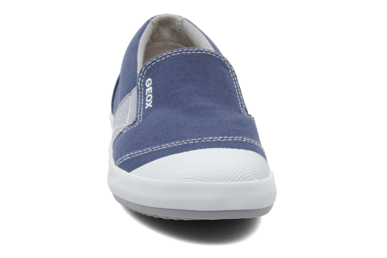 Baskets Geox J KIWI B. J - TELA Bleu vue portées chaussures