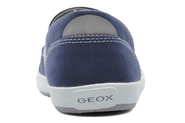 Baskets Geox J KIWI B. J - TELA Bleu vue droite