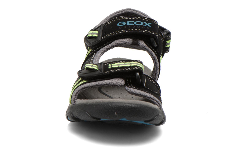 Sandales et nu-pieds Geox J S.STRADA A J4224A Noir vue portées chaussures