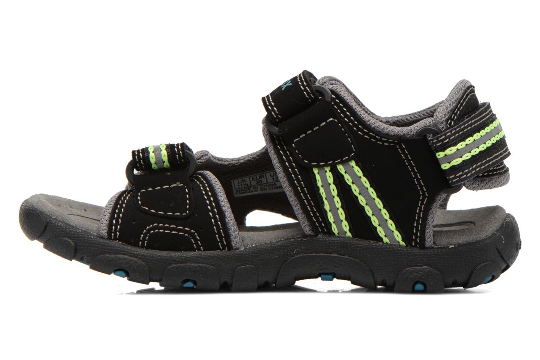 Sandales et nu-pieds Geox J S.STRADA A J4224A Noir vue face