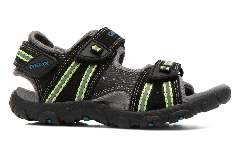 Sandales et nu-pieds Geox J S.STRADA A J4224A Noir vue derrière