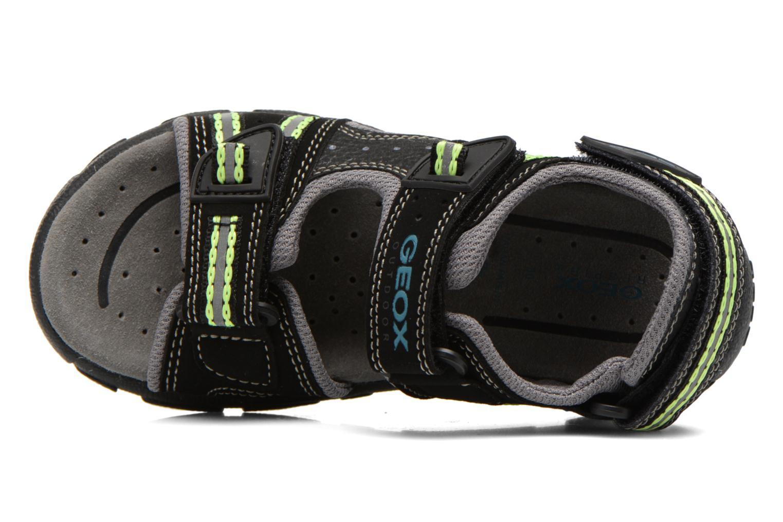 Sandales et nu-pieds Geox J S.STRADA A J4224A Noir vue gauche