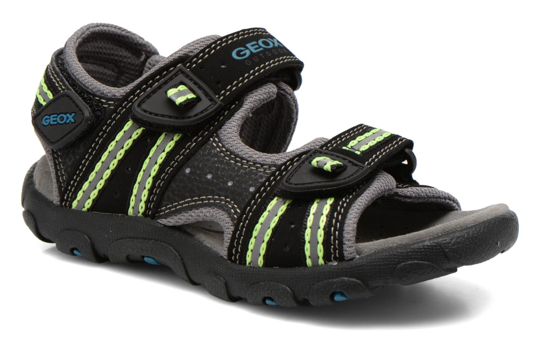 Sandales et nu-pieds Geox J S.STRADA A J4224A Noir vue détail/paire