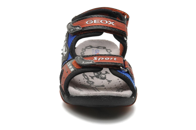 Sandales et nu-pieds Geox J SAND.STRIKE D - MESH+DBK ST Bleu vue portées chaussures