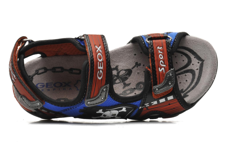 Sandalen Geox J SAND.STRIKE D - MESH+DBK ST blau ansicht von links