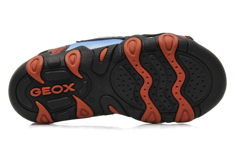 Sandales et nu-pieds Geox J SAND.STRIKE D - MESH+DBK ST Bleu vue haut