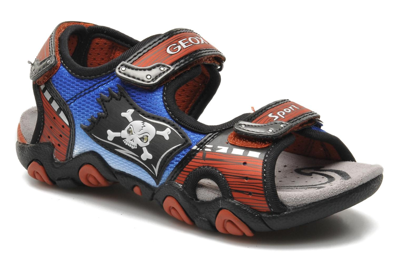 Sandales et nu-pieds Geox J SAND.STRIKE D - MESH+DBK ST Bleu vue détail/paire