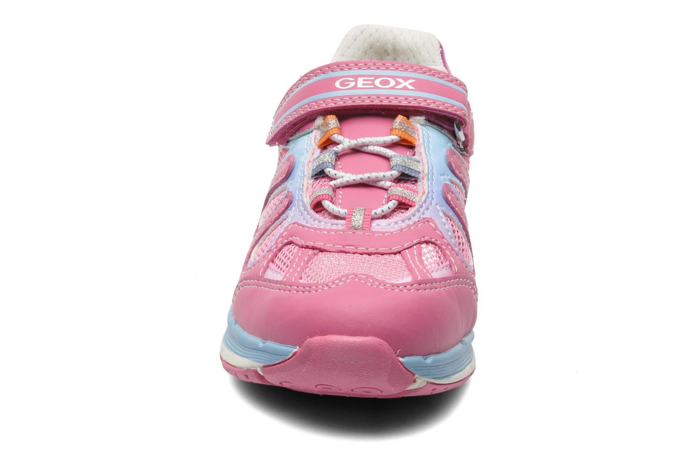 Sneaker Geox J TOP FLY G. B - GBK+MESH BRIL rosa schuhe getragen