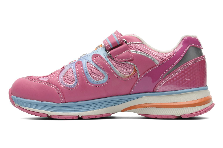 Sneaker Geox J TOP FLY G. B - GBK+MESH BRIL rosa ansicht von vorne