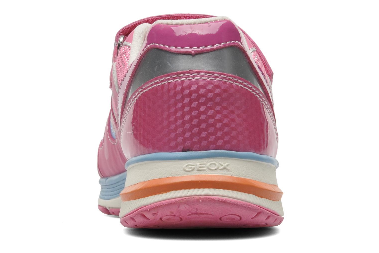 Sneaker Geox J TOP FLY G. B - GBK+MESH BRIL rosa ansicht von rechts