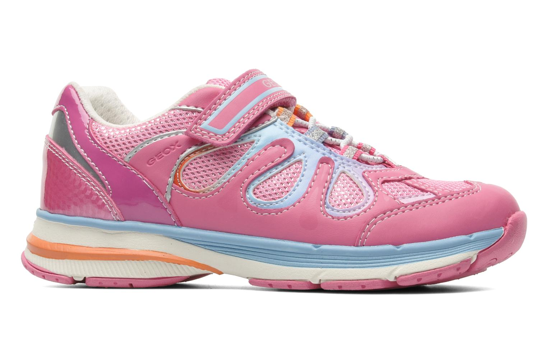 Sneaker Geox J TOP FLY G. B - GBK+MESH BRIL rosa ansicht von hinten