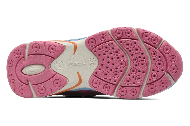 Sneaker Geox J TOP FLY G. B - GBK+MESH BRIL rosa ansicht von oben