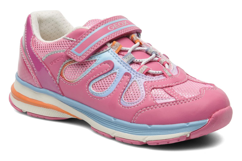 Sneaker Geox J TOP FLY G. B - GBK+MESH BRIL rosa detaillierte ansicht/modell