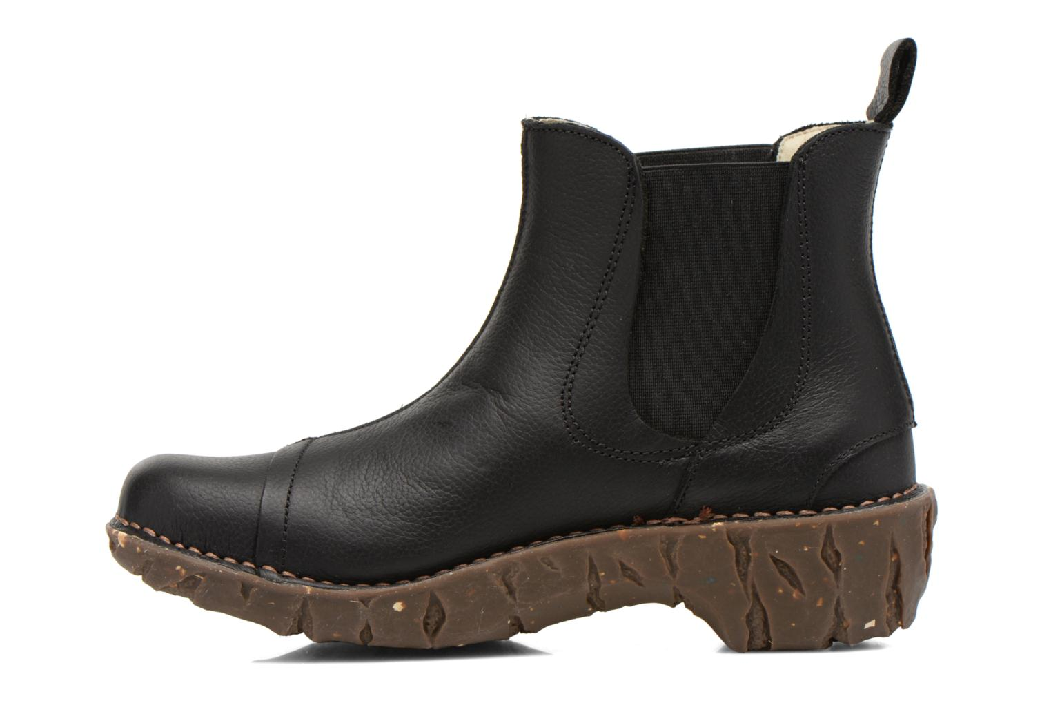 Ankle boots El Naturalista Yggdrasil N158 Black front view