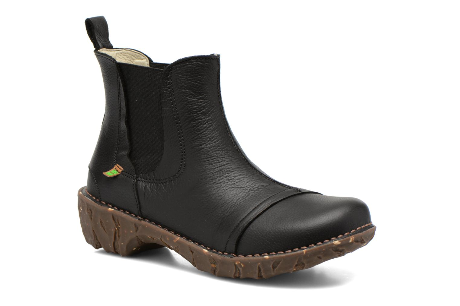 Ankle boots El Naturalista Yggdrasil N158 Black detailed view/ Pair view