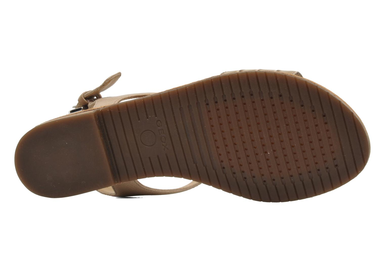 Sandals Geox D JOLANDA K-D5275K Beige view from above