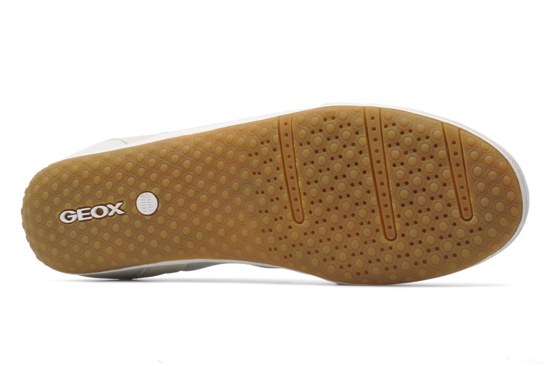 Baskets Geox D VEGA A D3209A Beige vue haut