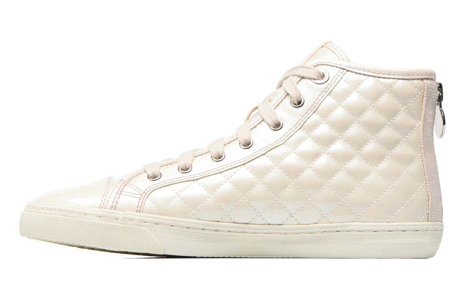 Sneakers Geox D NEW CLUB A D4258A Bianco immagine frontale